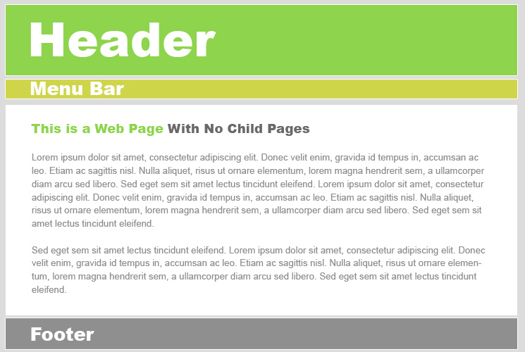 Website Layouts - About page template